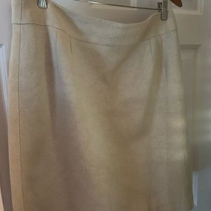 Ivory cotton and rayon skirt - knee length
